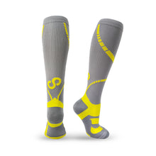 Load image into Gallery viewer, BRACOO LS72 ELP Compression Socks(Gray/Yellow)