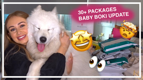 UNBOXING MONTHS OF PR PACKAGES + BOKI 1YR PUPDATE! All #Gifted
