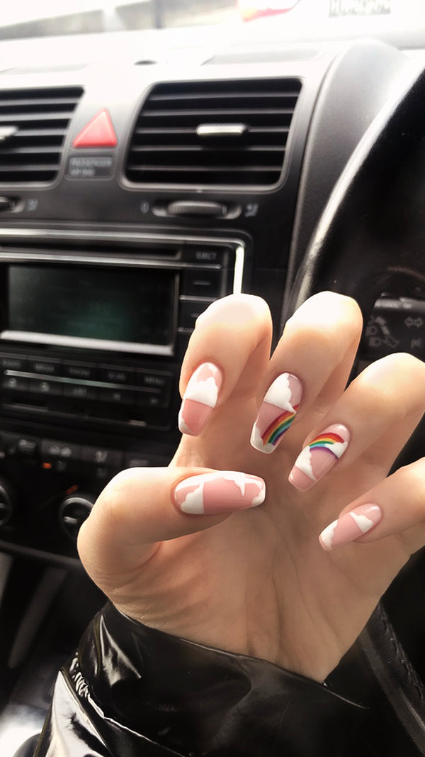 Rainbow Nails - Perfect for Halloween!