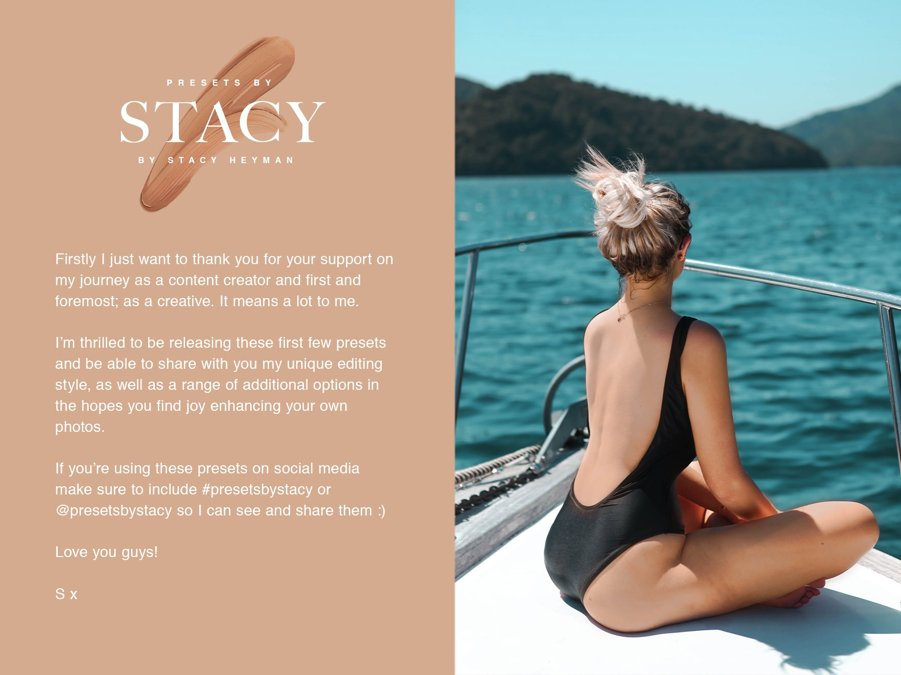 Thank you for choosing presets by stacy