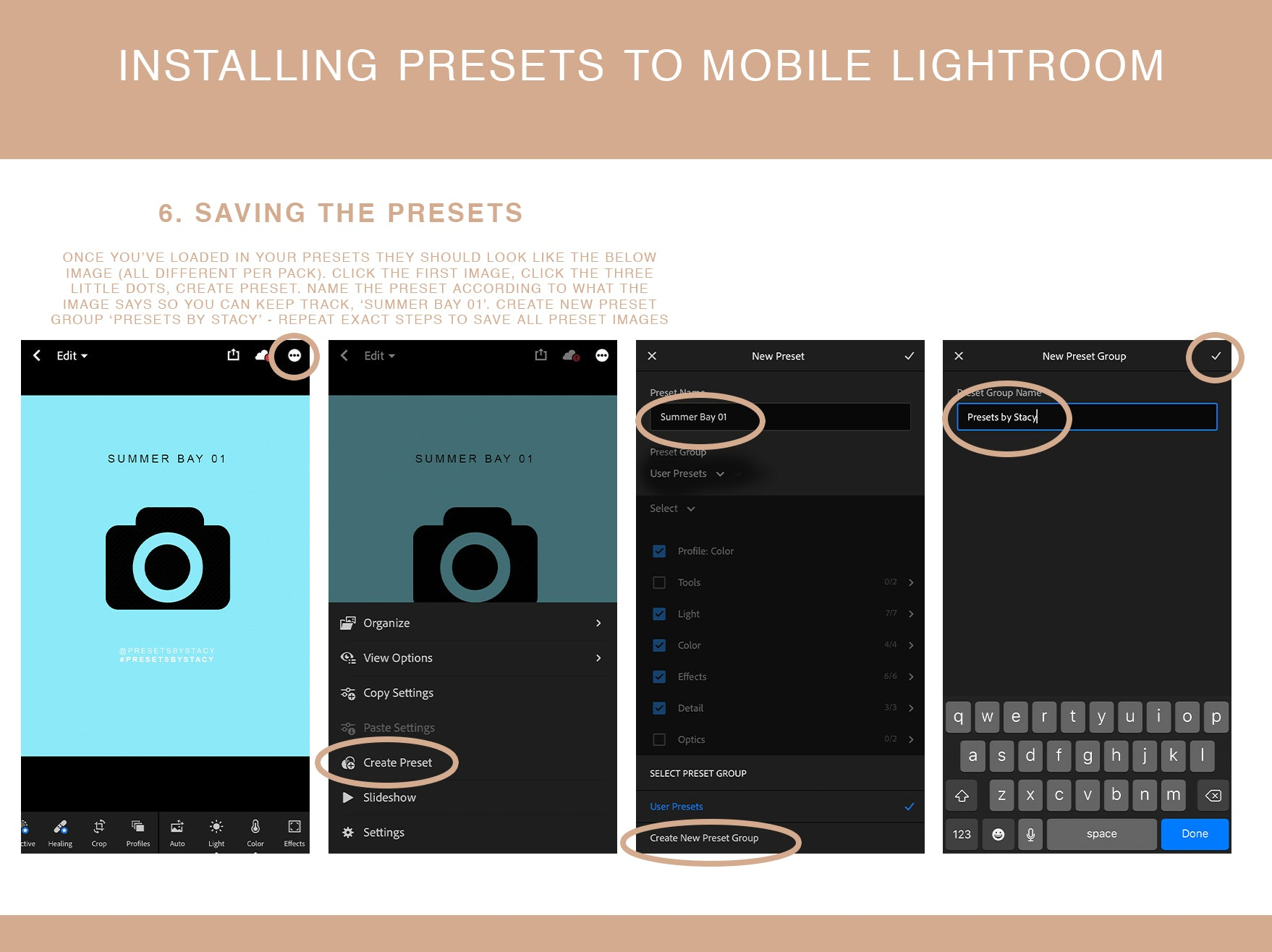 installing lightroom presets