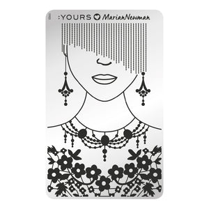 :YOURS LOVES MARIAN NEWMAN Mannequin Stamping Plate