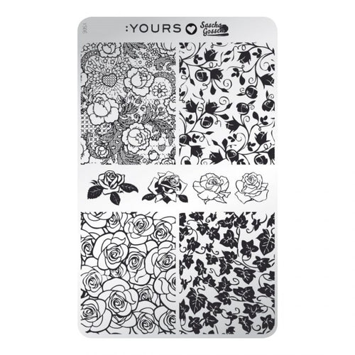 :YOURS LOVES SASCHA Rosa Stamping Plate