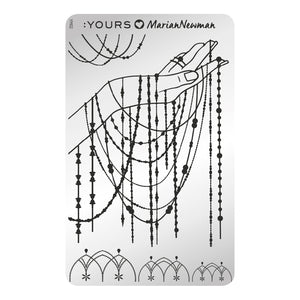 :YOURS LOVES MARIAN NEWMAN Charm of Chains Stamping Plate