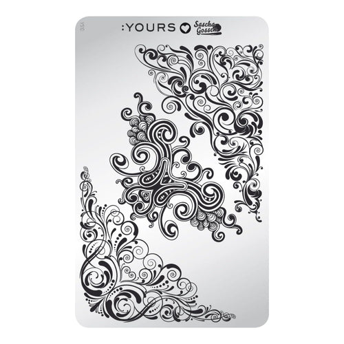 :YOURS LOVES SASCHA Curly Carnival Stamping Plate