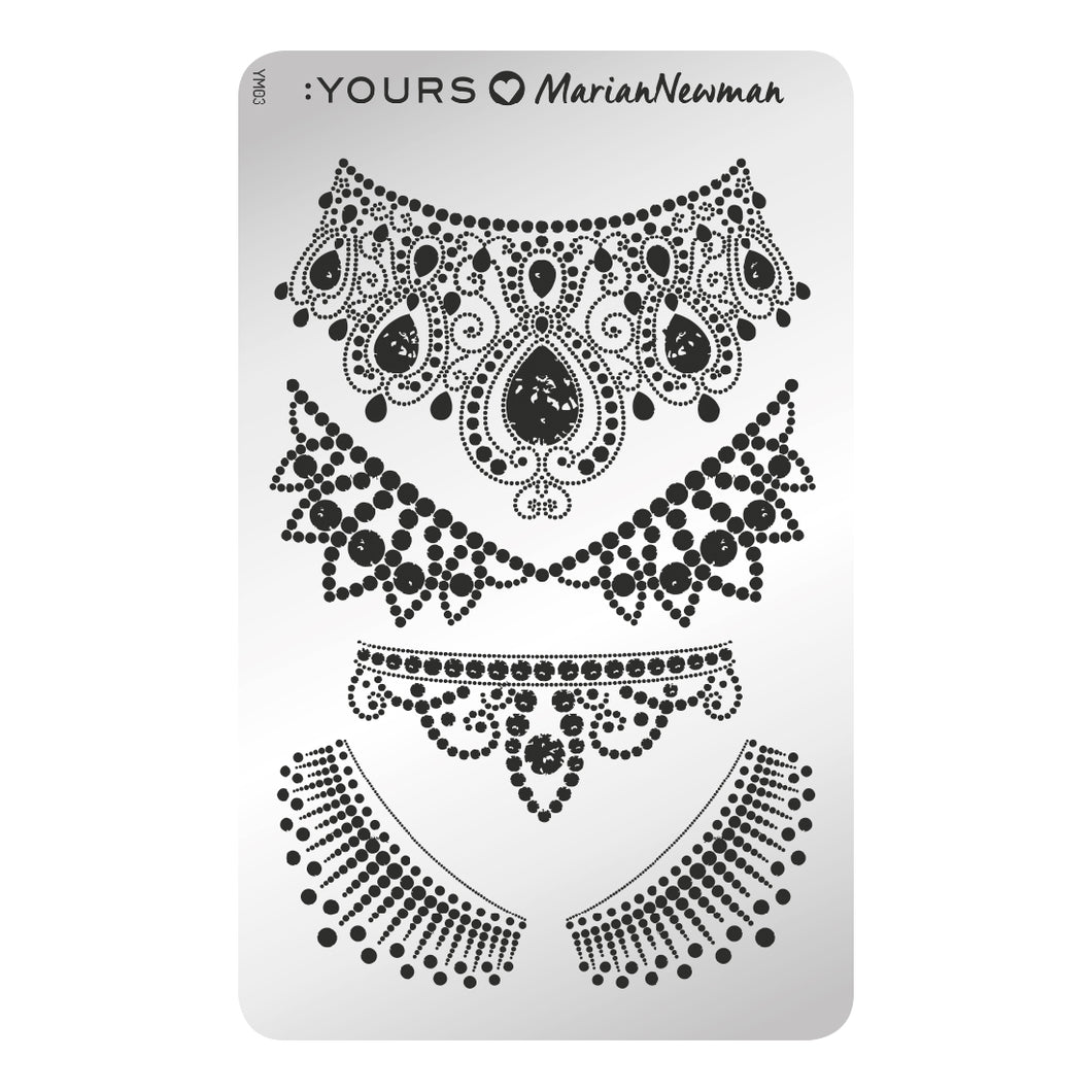 :YOURS LOVES MARIAN NEWMAN Royal Stamping Plate