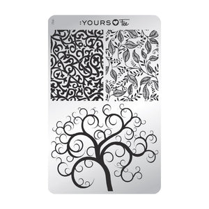 :YOURS LOVES FEE Twisted Garden Stamping Plate