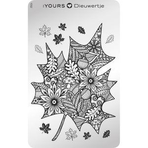 :YOURS LOVES DEE Fabulous Fall Stamping Plate