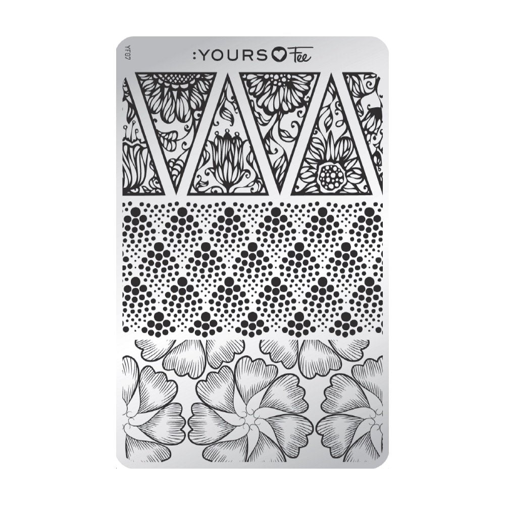 :YOURS LOVES FEE Falling Floral Stamping Plate