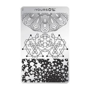 :YOURS LOVES FEE Sacred Shapes Stamping Plate