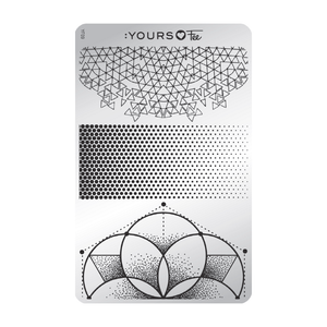 :YOURS LOVES FEE Angular Fade Stamping Plate