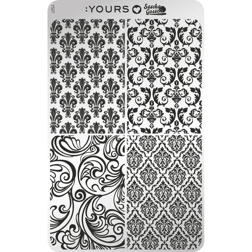 :YOURS LOVES SASCHA Is The Bar Okay Stamping Plate