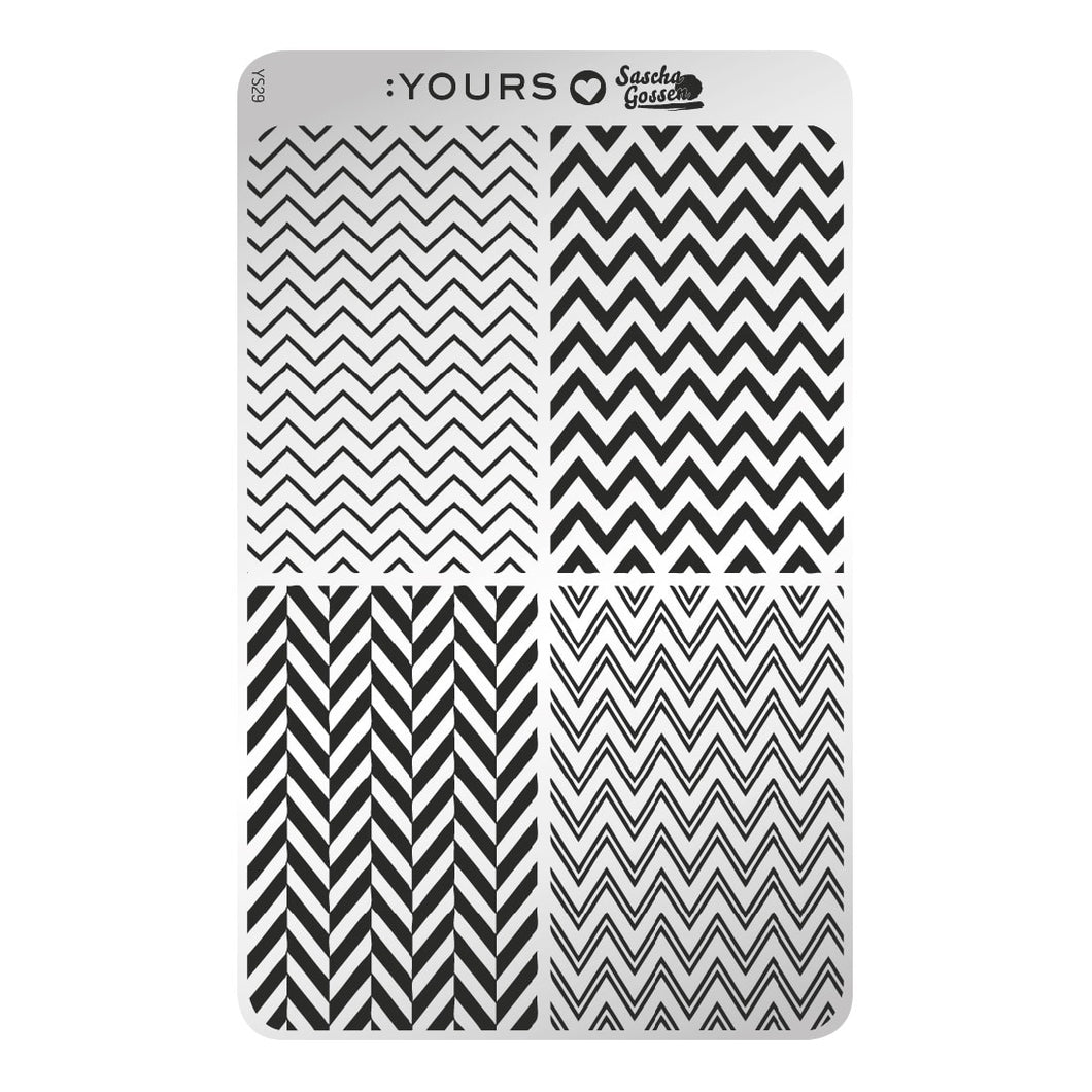 :YOURS LOVES SASCHA Edgy Zebra Stamping Plate