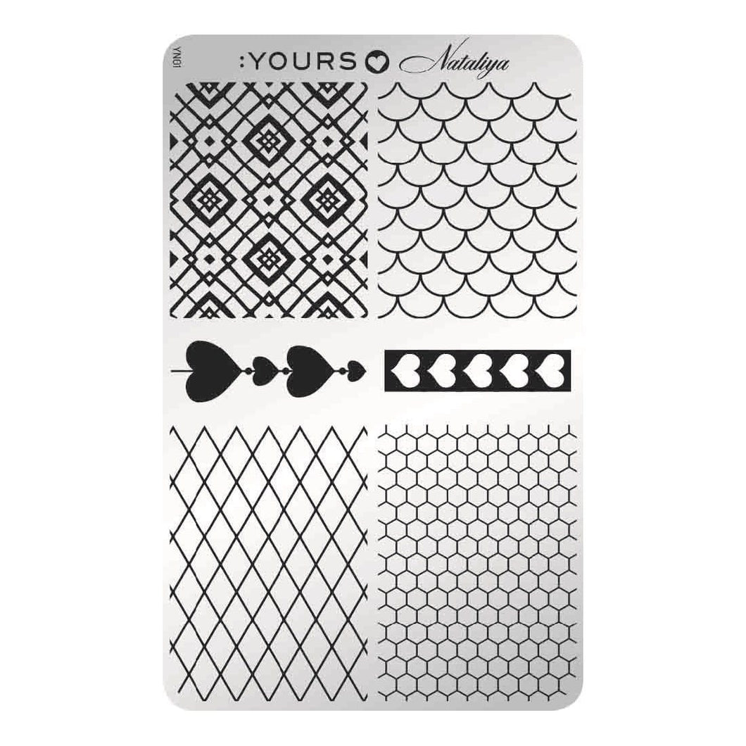 :YOURS LOVES NATALIYA Trendy Netting Stamping Plate