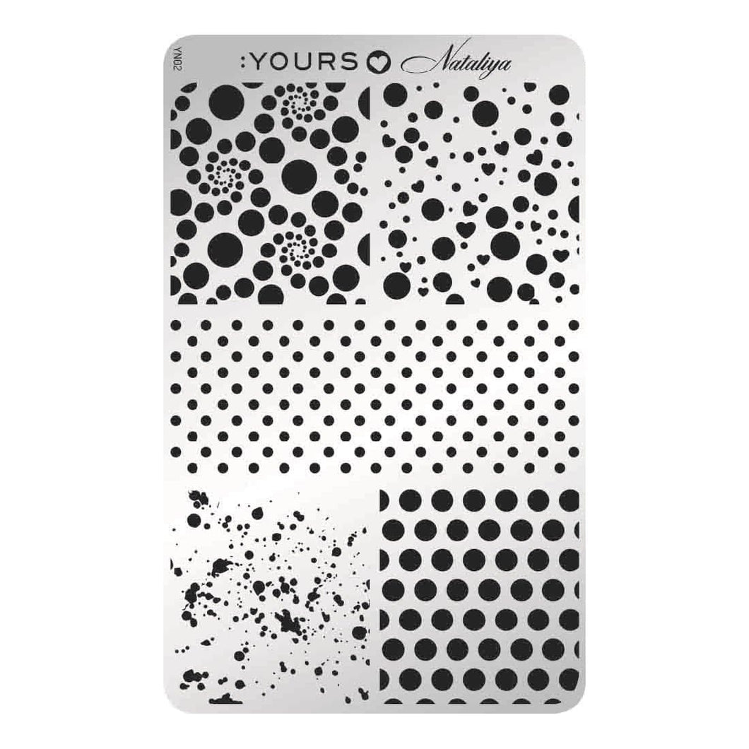 :YOURS LOVES NATALIYA Dotticure Stamping Plate