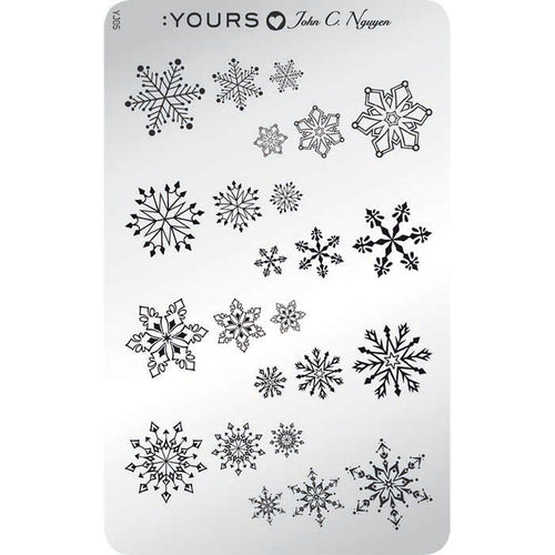:YOURS LOVES JOHN Winter Knits Stamping Plate