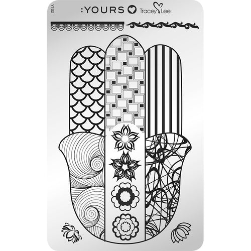 :YOURS LOVES TRACEY In Good Hands Stamping Plate