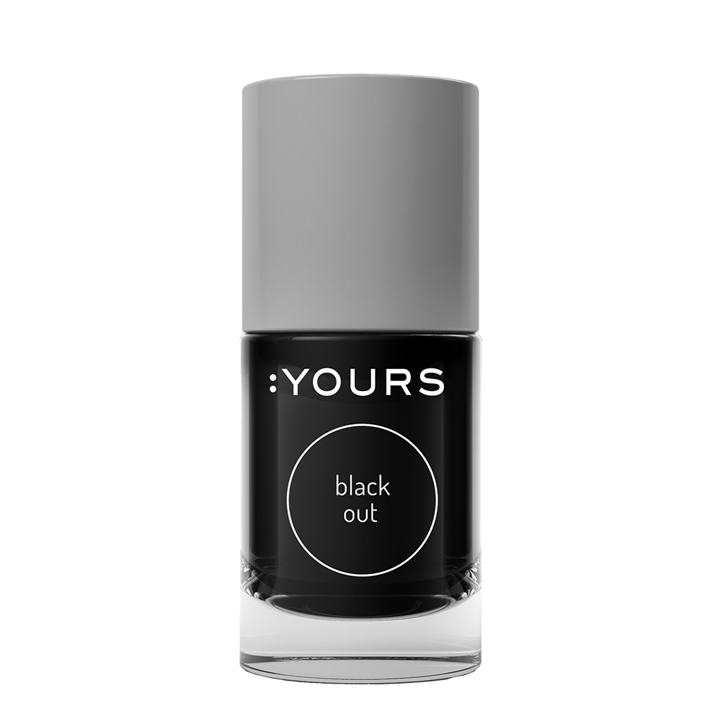 :YOURS BLACK OUT Stamping Polish