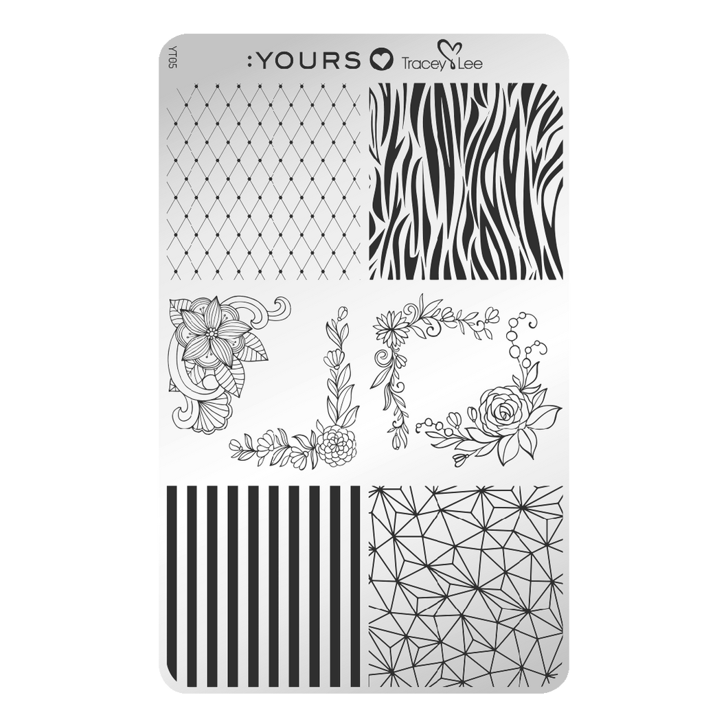 :YOURS LOVES TRACEY Design Medley Stamping Plate