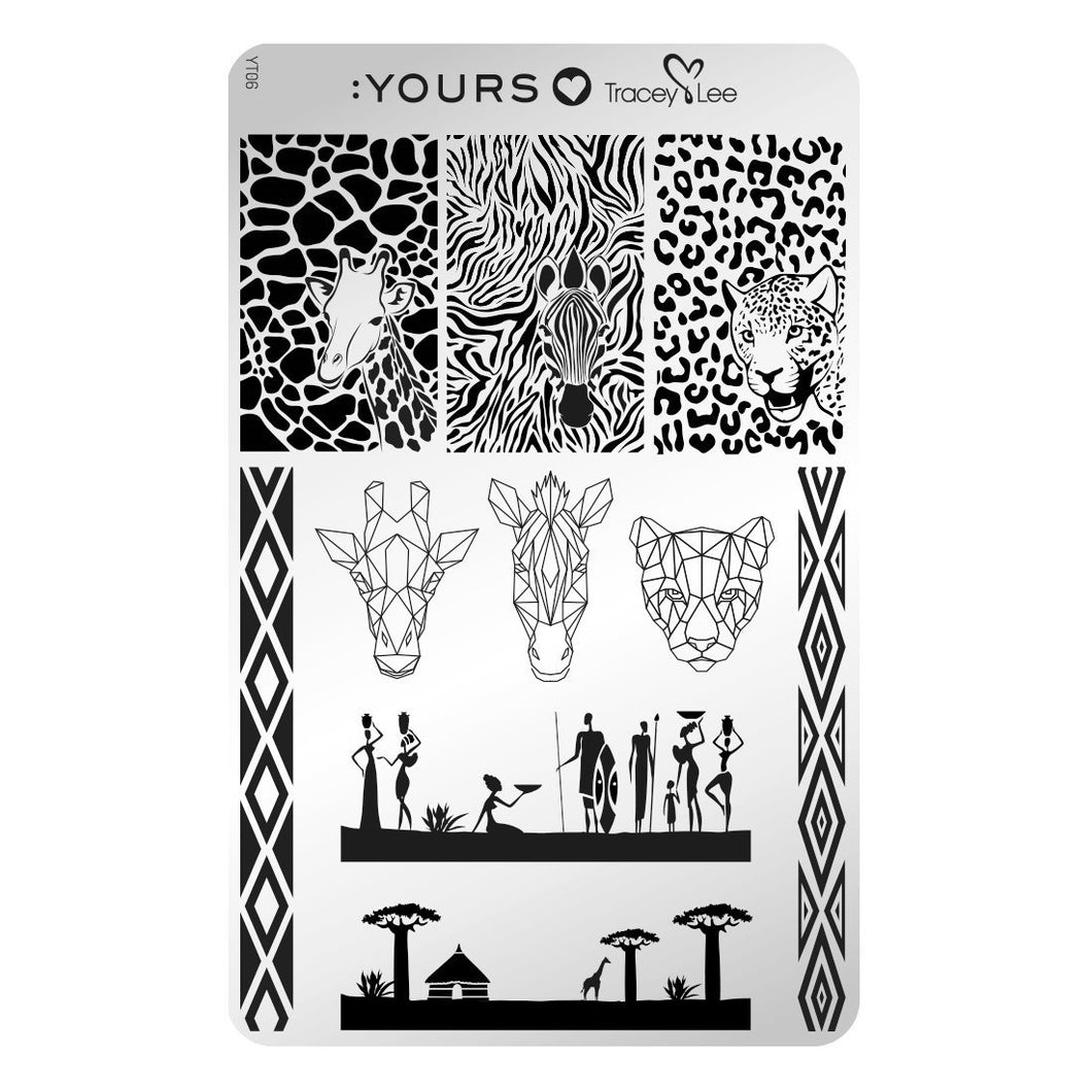 :YOURS LOVES TRACEY Afridisiac Stamping Plate