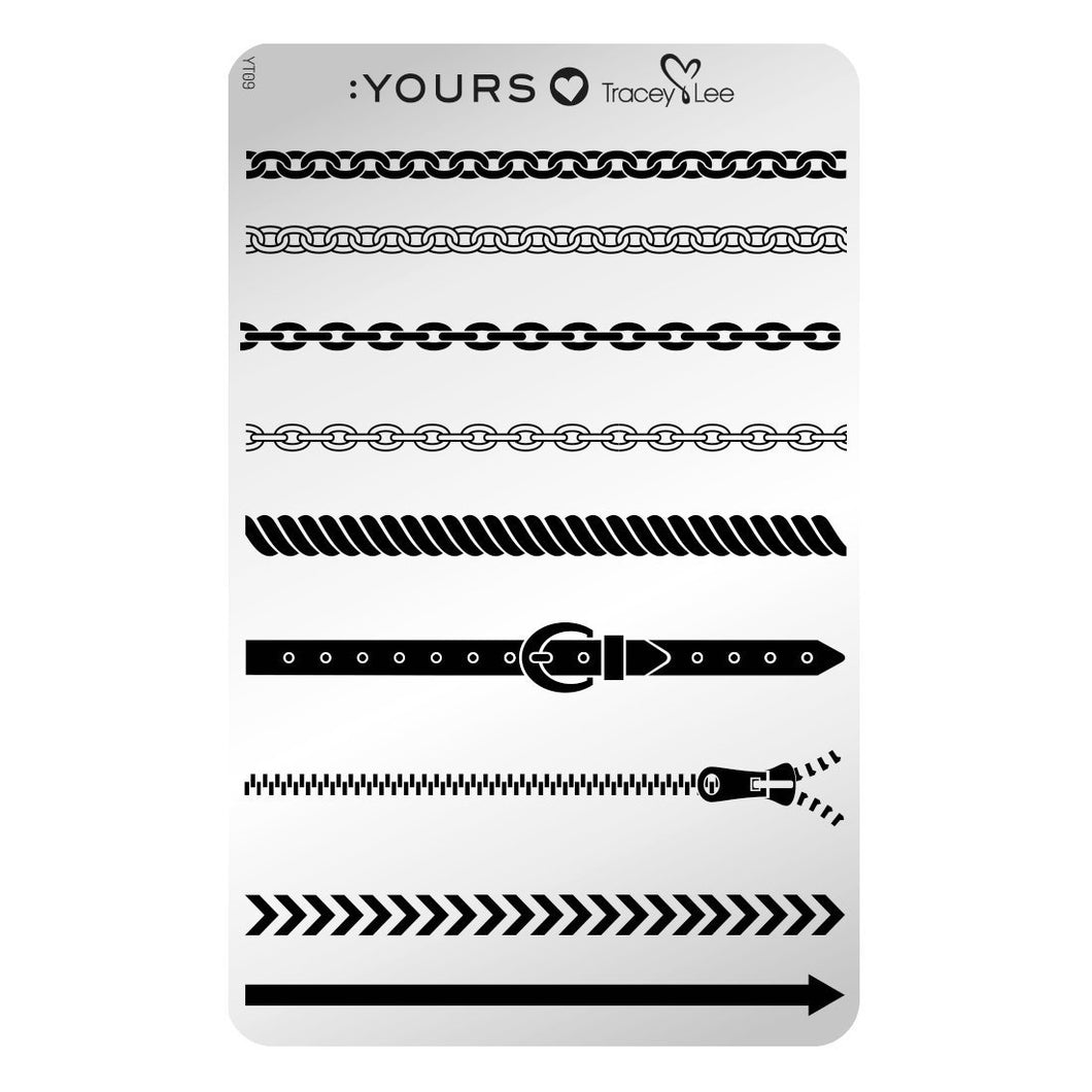 :YOURS LOVES TRACEY The Line Up Stamping Plate