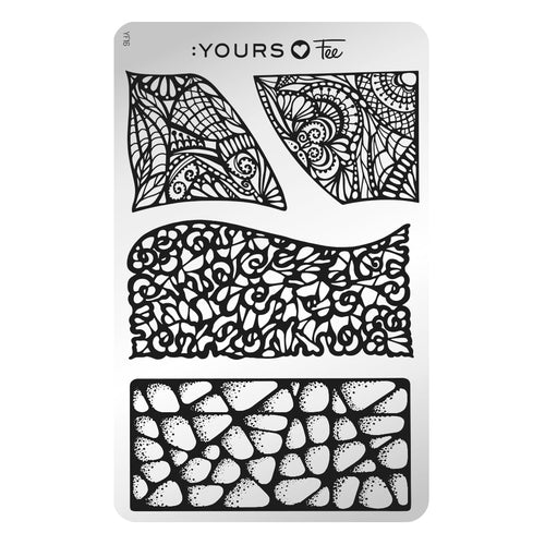 :YOURS LOVES FEE Language of Lace Stamping Plate