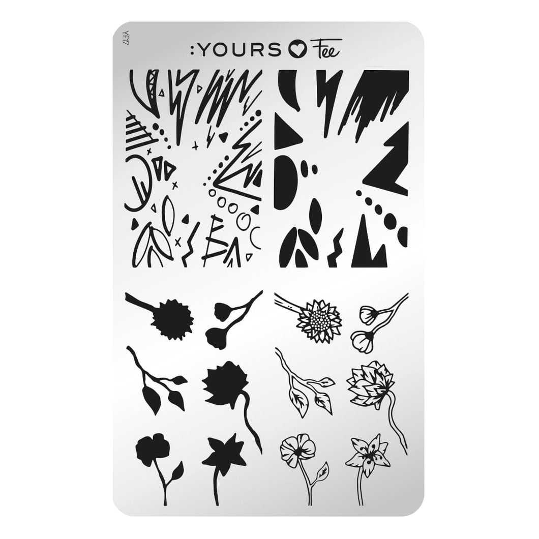 :YOURS LOVES FEE Layers of Light Stamping Plate