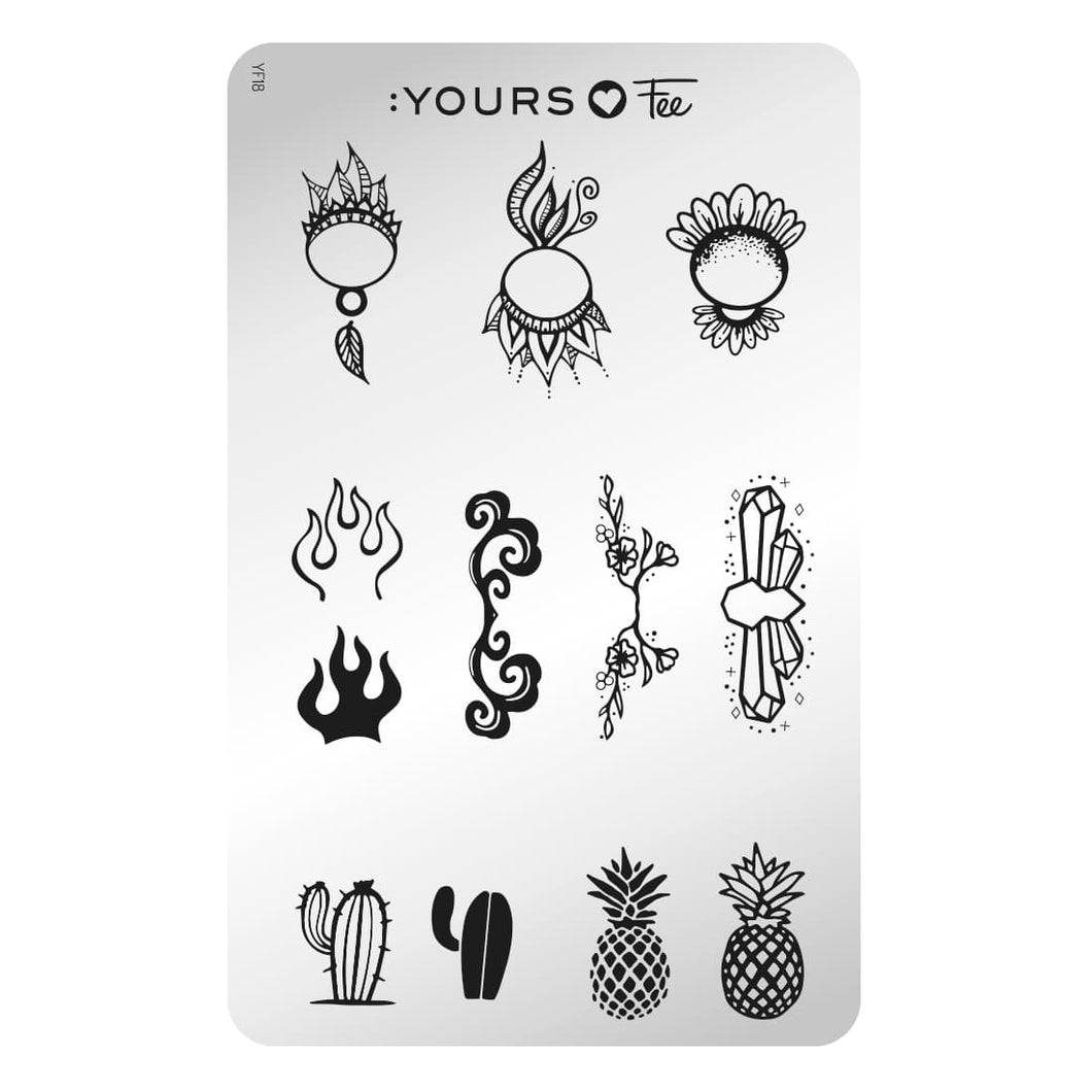 :YOURS LOVES FEE Pop Art Pictorial Stamping Plate