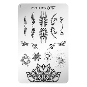 :YOURS LOVES FEE Crystalline Mystery Stamping Plate