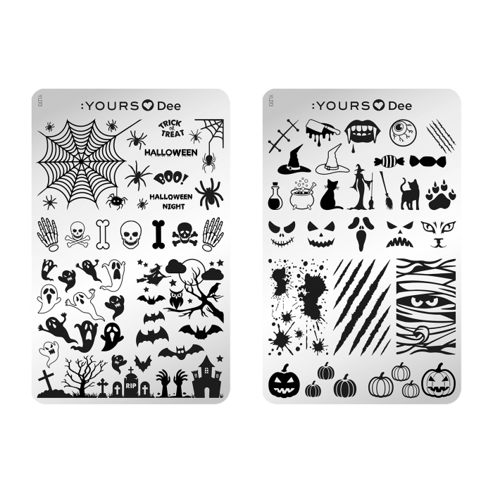 :YOURS LOVES DEE Halloween Night (double-sided) Stamping Plate