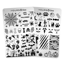 Load image into Gallery viewer, :YOURS LOVES DEE Halloween Night (double-sided) Stamping Plate