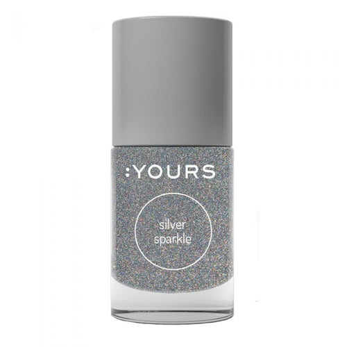 :YOURS SILVER SPARKLE Stamping Polish