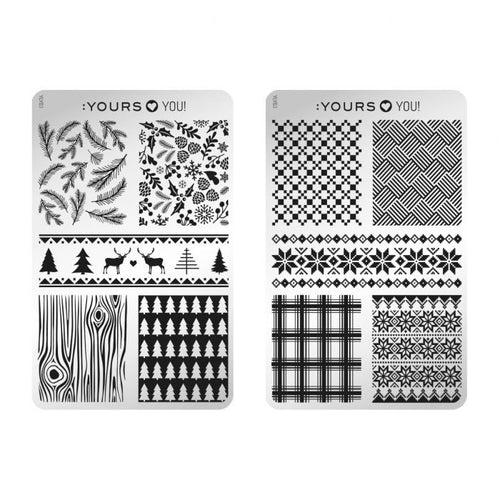 :YOURS LOVES YOU Winter Wolly (double-sided) Stamping Plate