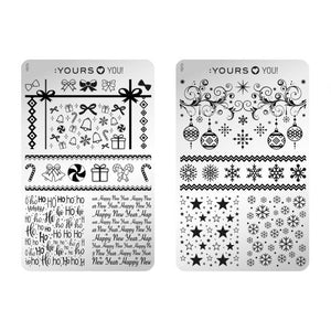 :YOURS LOVES YOU Take a Bow (double-sided) Stamping Plate