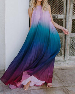 Beach chiffon maxi dress