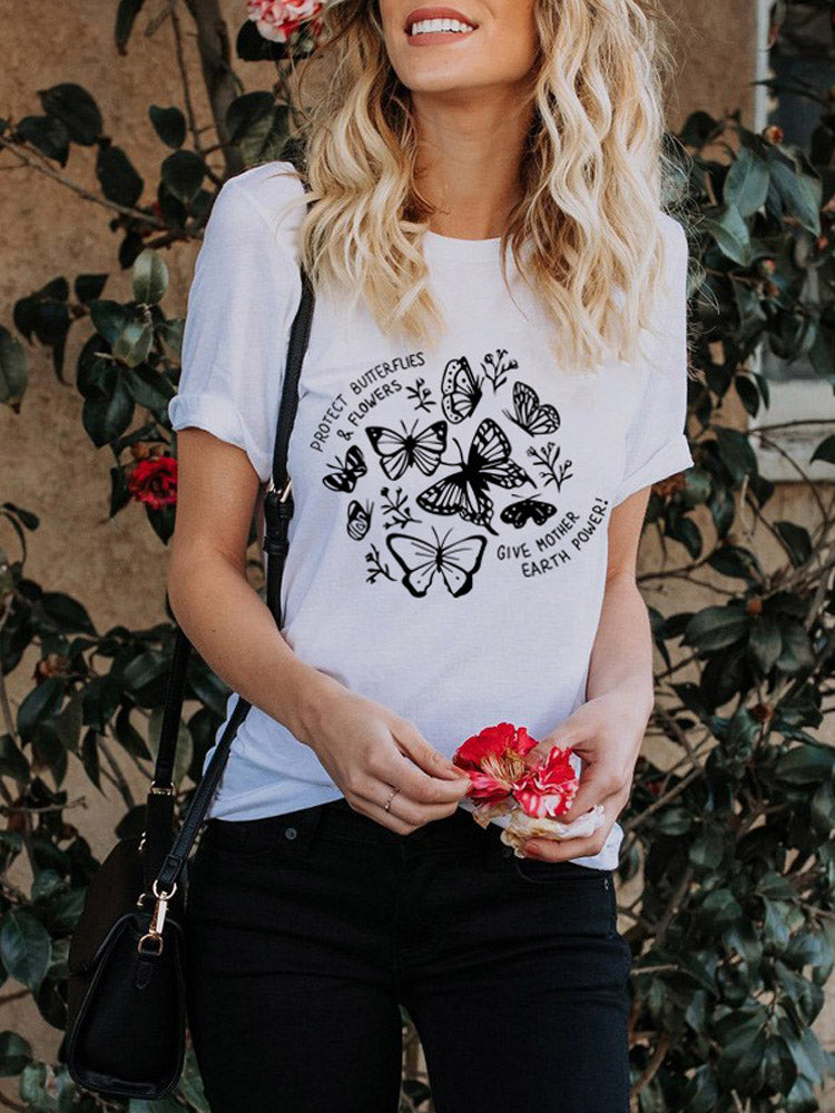 Summer Women Funny Print T-Shirt