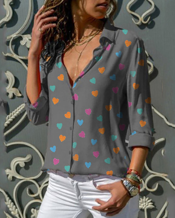 Love Print Long Sleeve Shirt