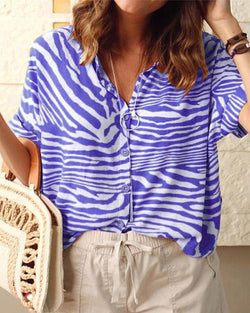 Striped collar casual shirt