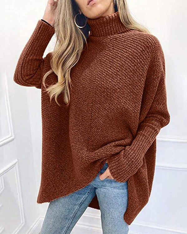 High Neck Oversized Casual Sweater