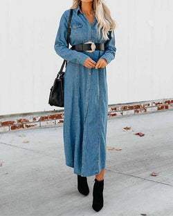 Maxi Denim Overcoat