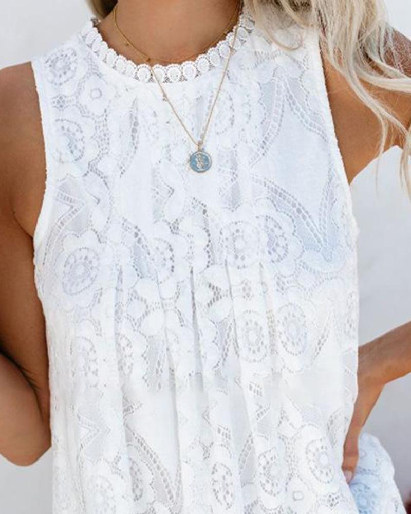 European&US style fashion lace stitching solid color vest