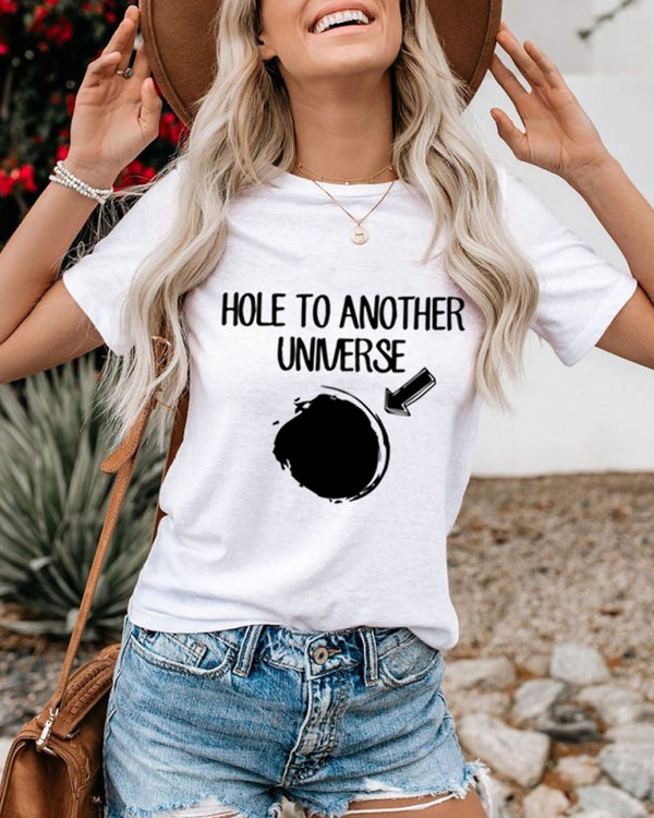Black Hole Couple Print Tee