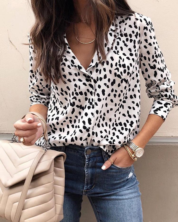 Dot Long Sleeve Casual Shirt