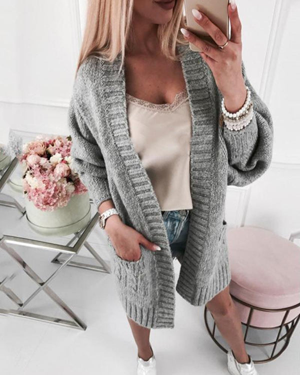 Long Hip Length Cardigan Sweater