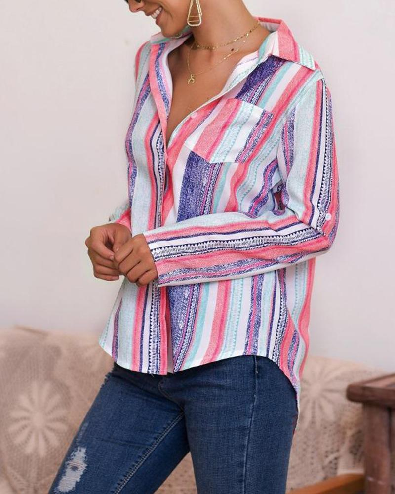 Multicolor Striped Blouse