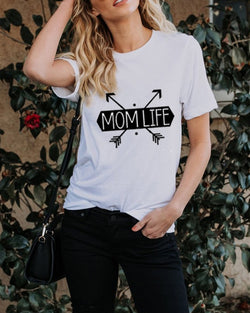 Mother's Day Print Casual Tee