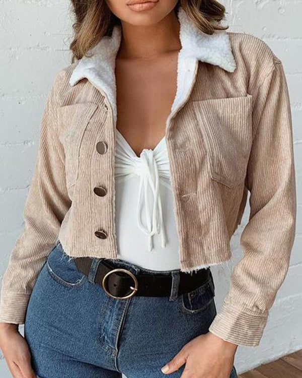Warm Turn-Down Collar Jacket