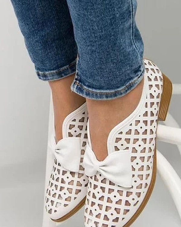 Bow Tie Slip On Ankle Bootie