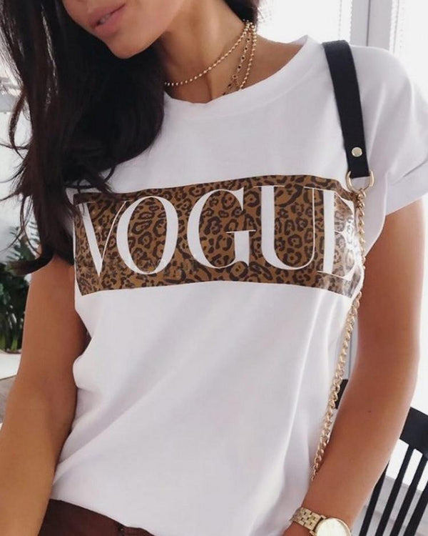 Summer Women Slogan Print T-Shirt