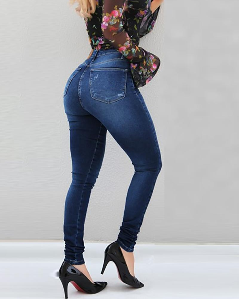 Skinny Pencil High Waist Jeans